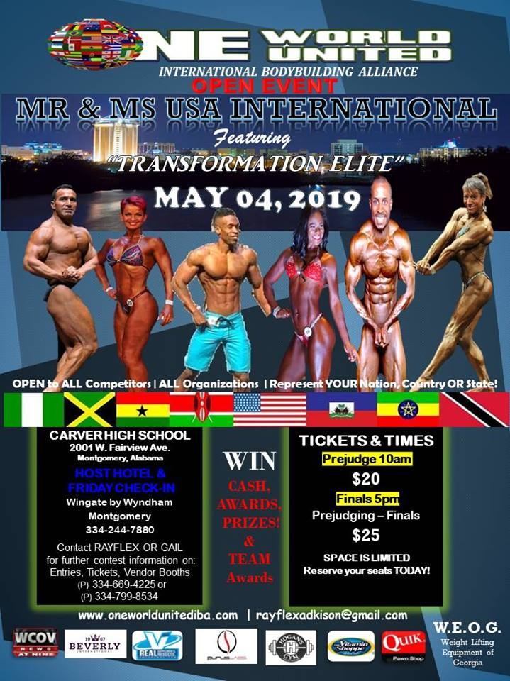"MAY 4, 2019 – AL ""MR & MS USA INTERNATIONAL"""