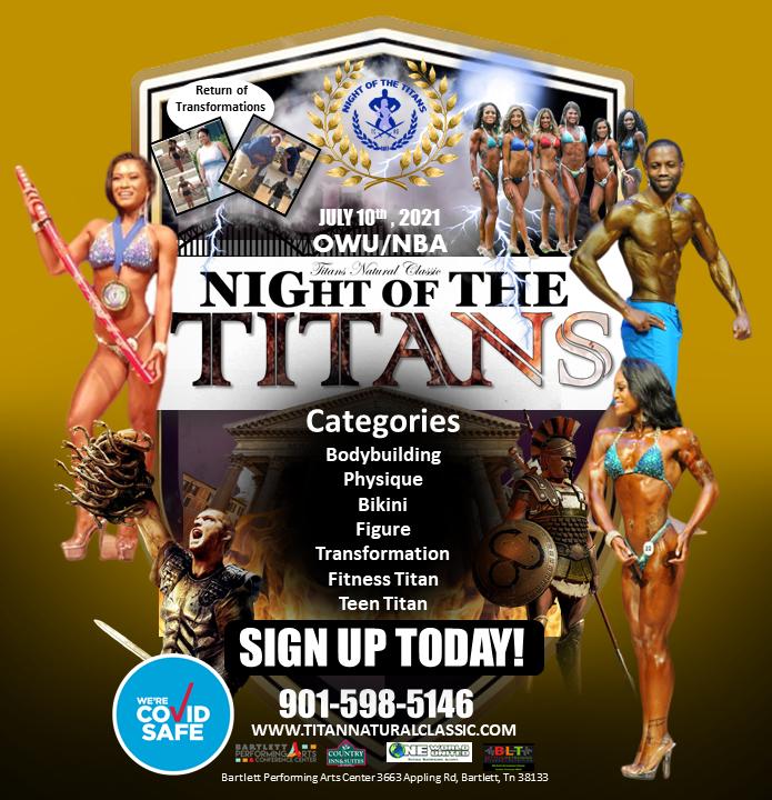 OCTOBER 23, 2021 NIGHT OF TITANS – TN PRO USA NATURALS FINALS